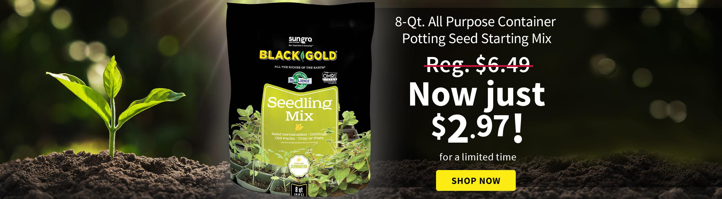 Black Gold 8 Qt. All Purpose Container Potting Seed Starting Mix