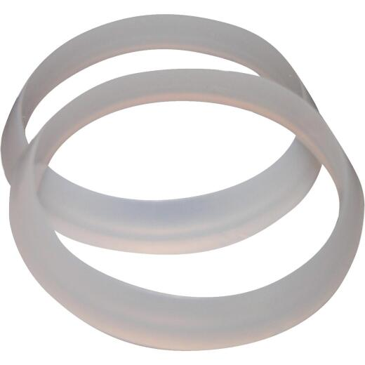 Lasco 1-1/4 In. White Plastic/Poly Slip Joint Washer (2 Pack)