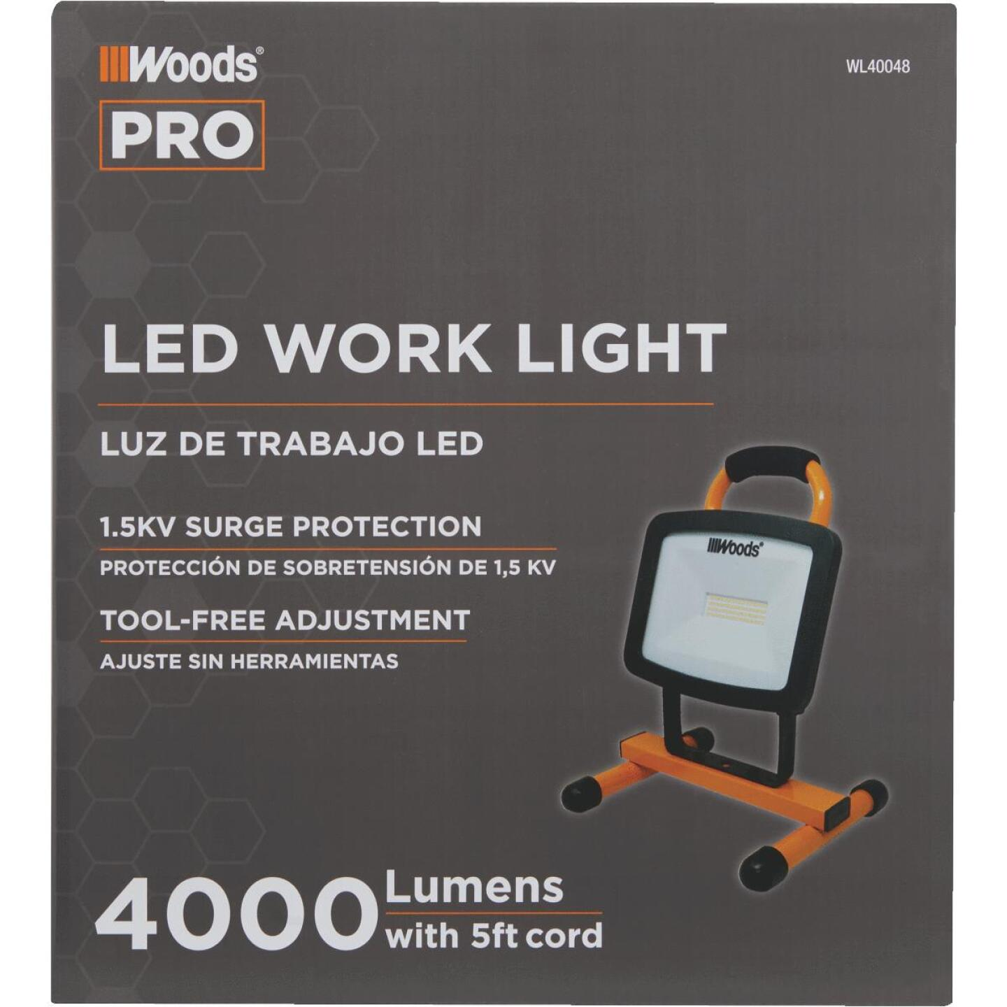 Woods 4400 Lm. LED H-Stand Portable Work Light Image 2