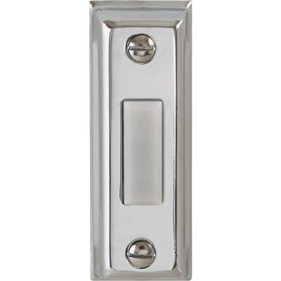 IQ America Wired Silver Rectangular Design Lighted Doorbell Push-Button