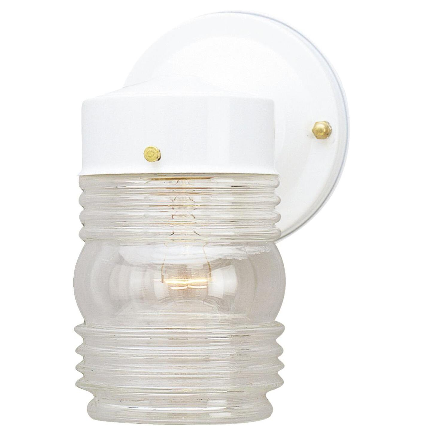 Home Impressions White Incandescent Type A Outdoor Wall Light Fixture Image 1