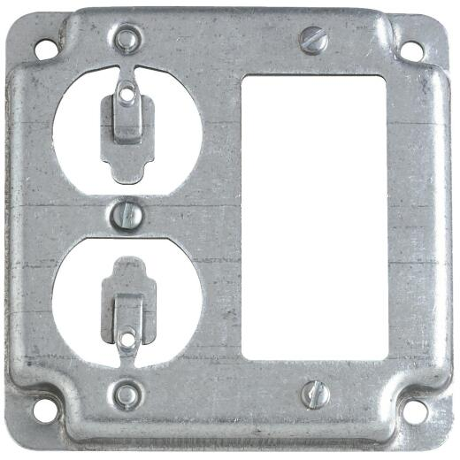 Raco GFI Outlet and Duplex Outlet 4 In. x 4 In. Square Device Cover