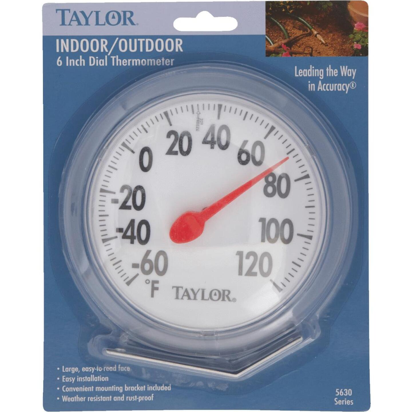 """Taylor 6"""" Fahrenheit -60 To 120 Outdoor Wall Thermometer Image 2"""